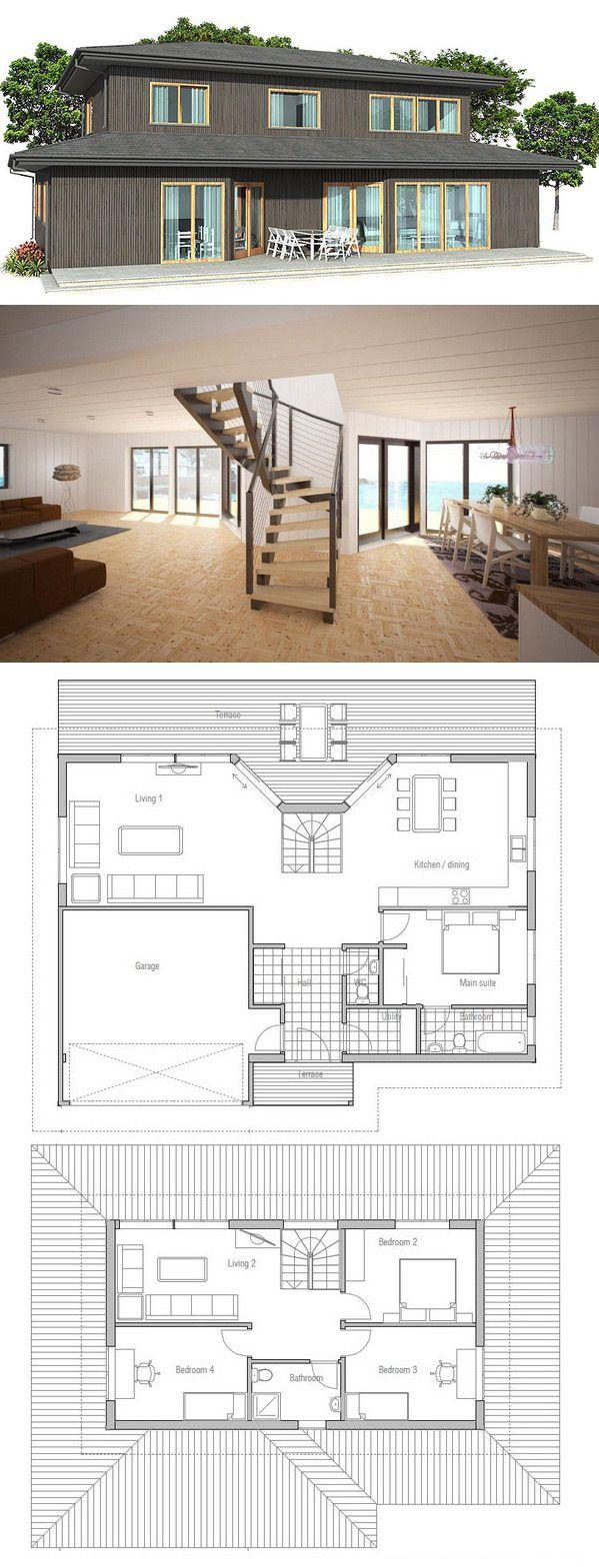 1000 idées sur le thème Plans De Petite Maison sur Pinterest ...