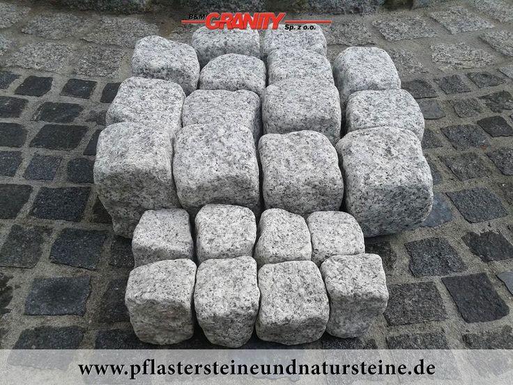 """Firma B&M GRANITY – rustikale, ohne scharfe Kanten, """"veraltete"""", getrommelte Erzeugnissen aus frostbeständigem Granit. Neue Produkte, die speziell, zusätzlich bearbeitet werden, um scharfe Kanten zu eliminieren. http://www.pflastersteineundnatursteine.de/fotogalerie/pflastersteine/"""