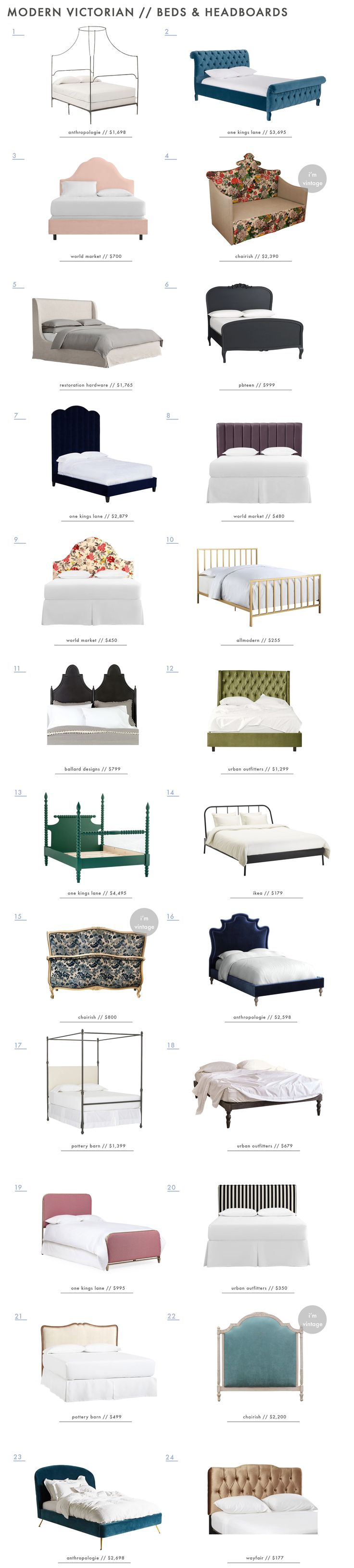 Emily Henderson Modern Victorian Trend Furniture Beds Headboards Roundup