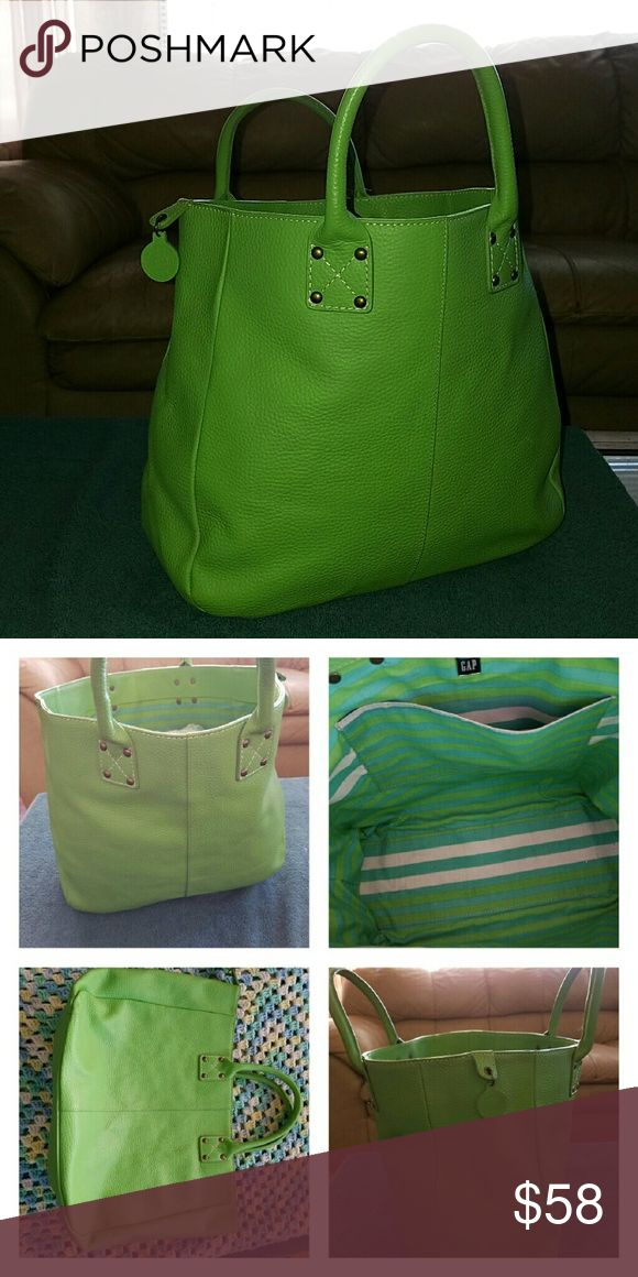 Tote Tumbled Leather 12X12x5 Beautiful Very Gently Used Tumbled Leather Tote Made By GAP Need New Home Make Reasonable Offer. GAP Bags Totes
