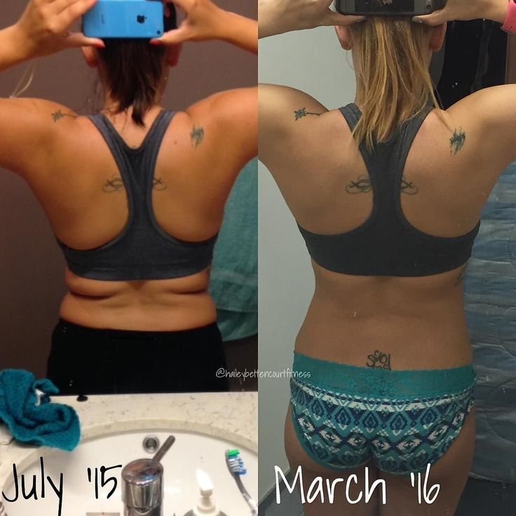 A different type of transformation! Haha my back/bra area is the one I am most self-conscious about (along with my thighs/hips) and I even changed my Halloween costume last year because I was so appalled at my back fat.  The photo on the left was taken during my first week of pre training and the one on the right today!  I still have some fluff to lose before my competition so that my muscles pop a bit more-but I'm definitely happy with how far I've come. disclaimer: tans fade   About to hit…