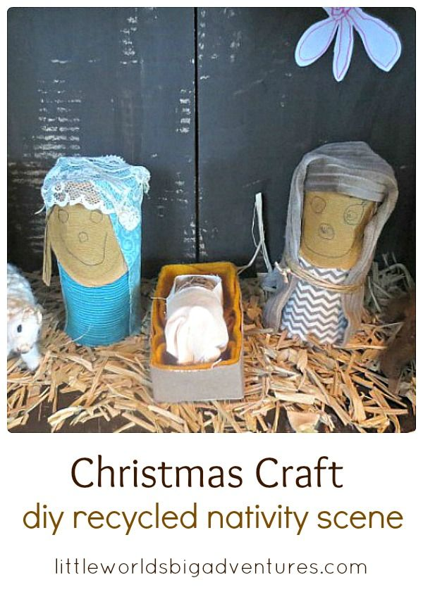 how to make nativity scene from cardboard
