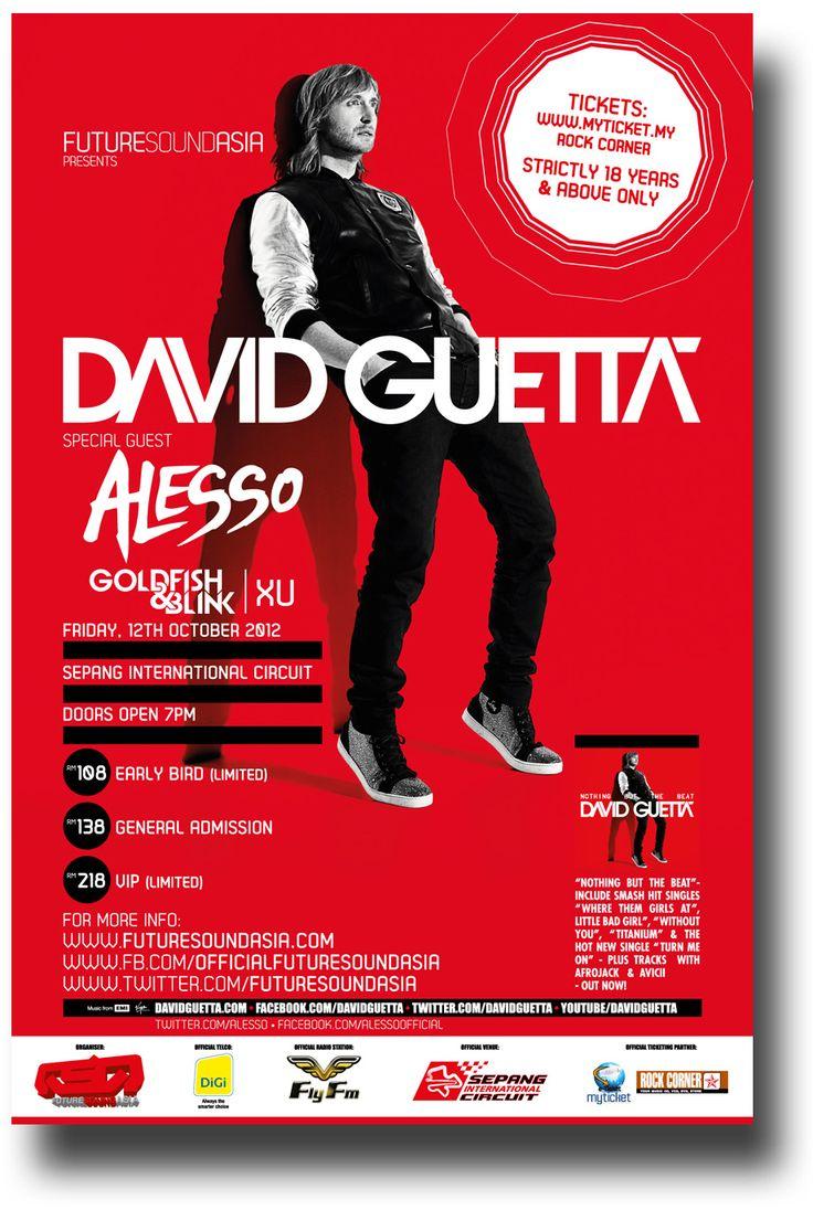 David Guetta  Poster Concert $9.84