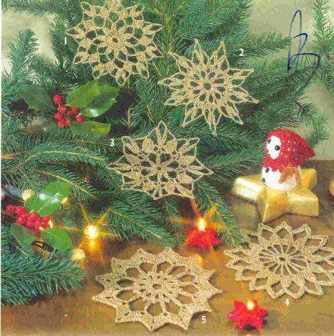 Вяжем снежинки и шары для Новогодней елки. Обсуждение на LiveInternet - Российский Сервис Онлайн-Дневников