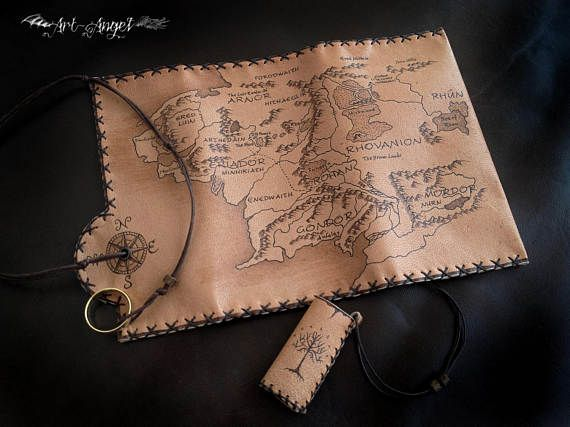 Genuine leather Middle Earth Tobacco Pouch Lord of the