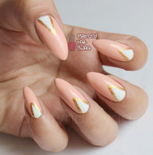 Something quick and simple…Essie - A Crewed Interest, white & gold stripers.