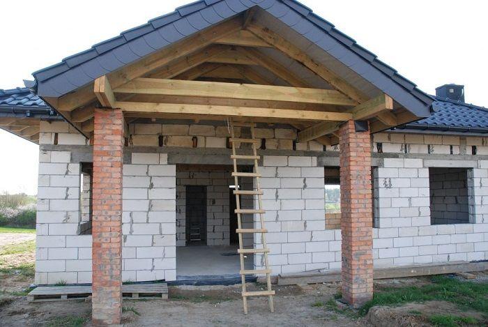 Wejście do domu  #dom #projekt #budowa