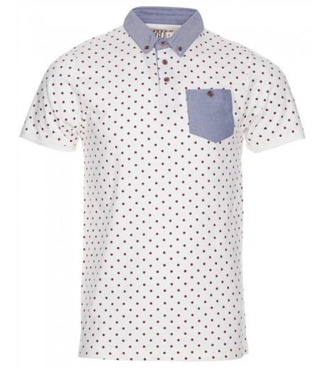 Polka Polo Shirt White - £14.99