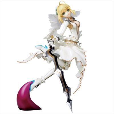 『Fate/EXTRA CCC』より、ウェディングドレスを思わせる衣装を身に纏った「セイバー」が登場!