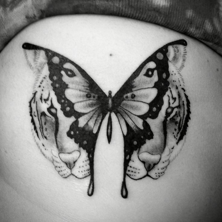 Tiger butterfly tattoo   For appointments and inquires email Magicmiketattoos@gmail.com   Follow me on Instagram @magicmiketattoos