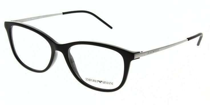 Emporio Armani Glasses EA3102 5017 54 is a black frame and is designed for women. It is a medium style with a 54mm lens diameter. The bridge size for this model is 16mm and the side length is 140mm. This adult designer prescription glasses model is a metal & plastic, full rimmed frame with a oval shape. #theopticshop