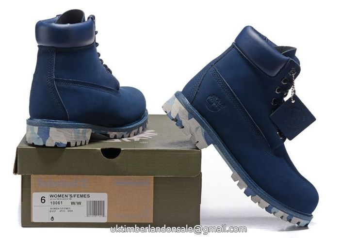 Latest Navy Blue Camo Timberland 6 Inch Waterproof Premium Men Boots $95.99