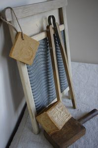 old washboard for laundry room décor - thanks, Colleen for this idea!