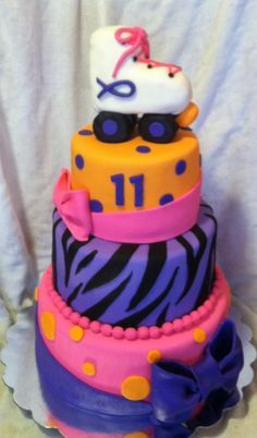 birthday cake - roller skating | Coolest Roller Skate Birthday Cake Design 9