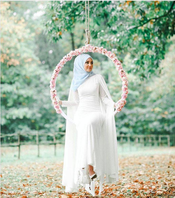 hijab muslim bride slaying it | hijabi wedding dress