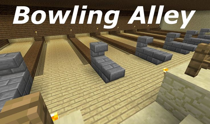This is a video on how to make a minecraft bowling ally.