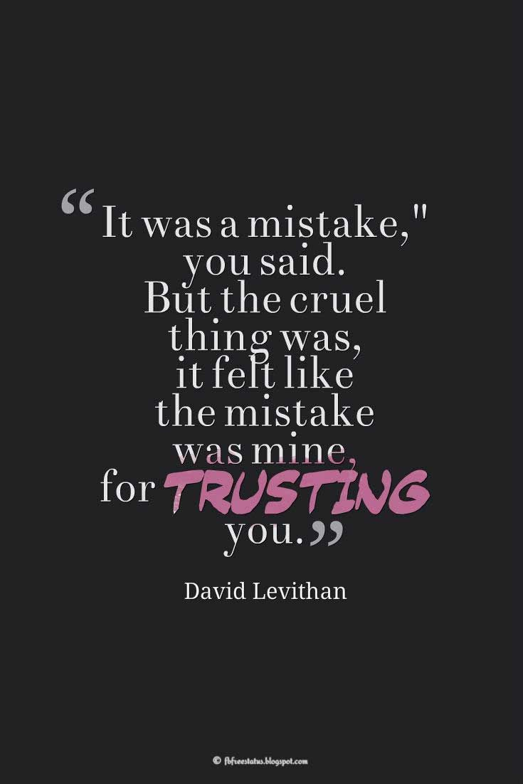 Broken Trust Quotes and Saying with