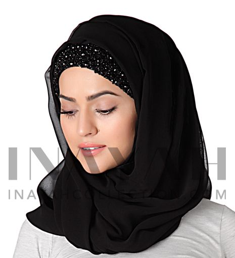 Intricate and detailed hijab head band ll www.inayahcollection.com