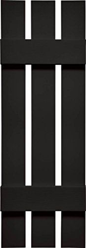 Mid America VSBB1244B Spaced Board  Batten Three Board Vinyl Shutter 44 x 12 Black * You can find out more details at the link of the image.