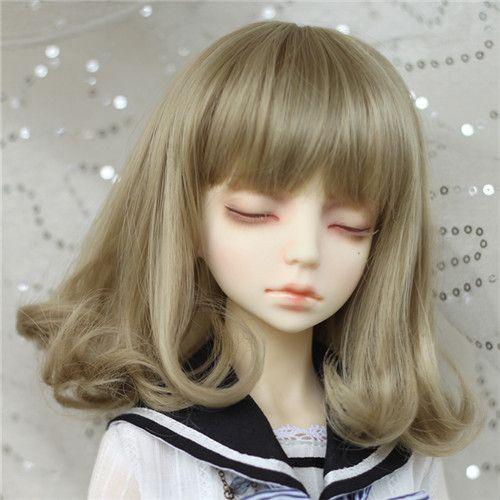 """M-スタイル msd bjd 7-8 """"人形かつら スーパードルフィー (SM-WD186-18) 4 カラー"""