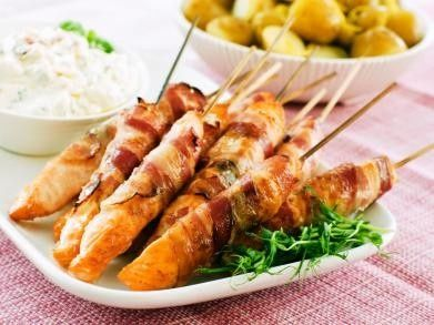 BBQ Zalmrolletjes recept - Vis - Eten Gerechten - Recepten Vandaag