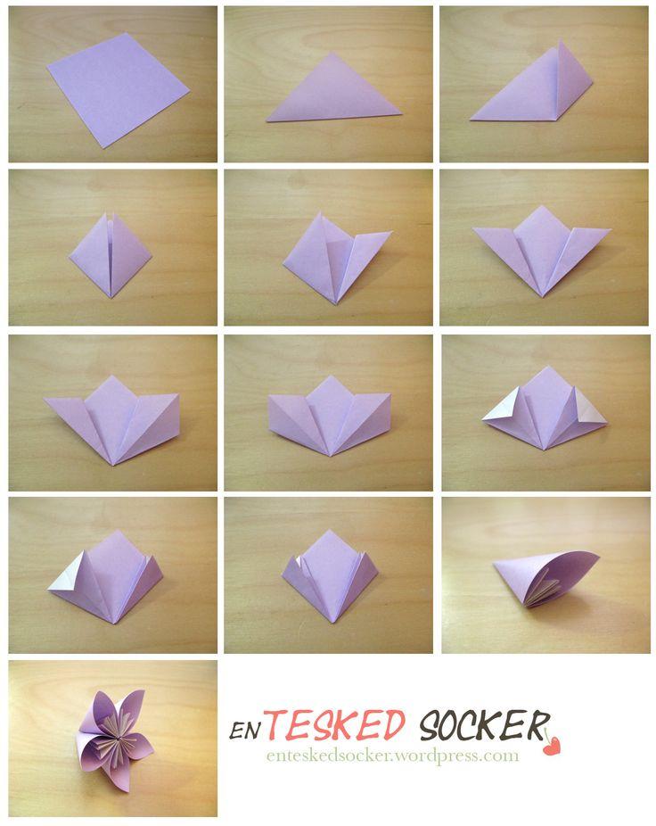Här kommer ett litet somrigt pyssel där jag visar hur man kan göra egna origamiblommor. Rätt lätta är dom även för nybörjare och fantastisk fina blir dom! Det roliga är att man även kan använda sam…