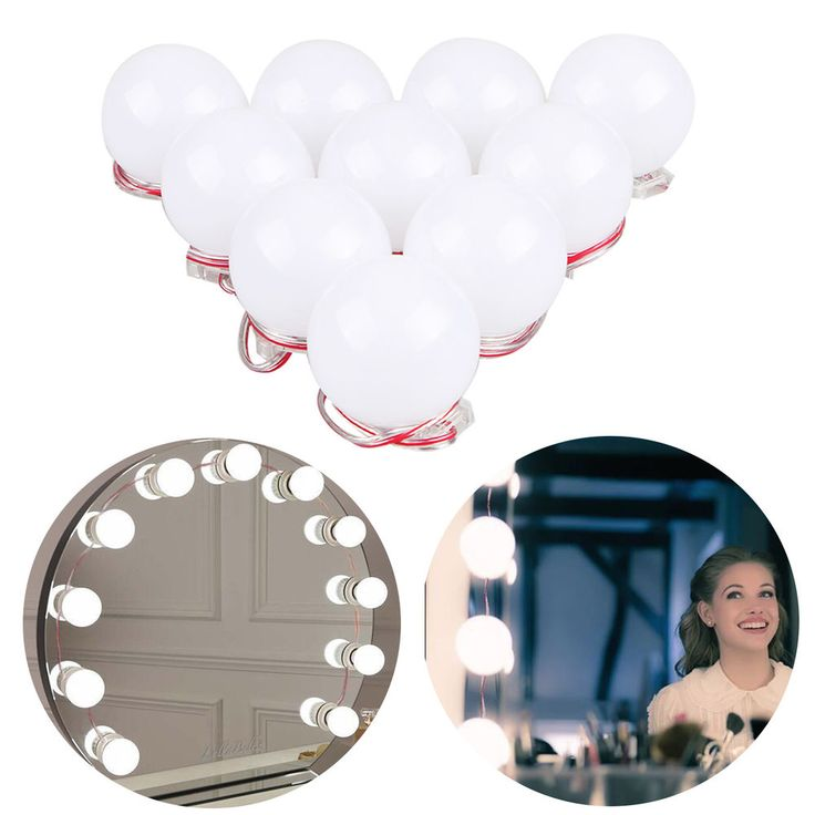 Dimmable bulbs: This lights kit comes with a dimmer switch so you can adjust the brightness. If you do not have a vanity mirror with bulbs, this will be your solution! Just a lighting kit, making your dressing table mirror amazing. | eBay!