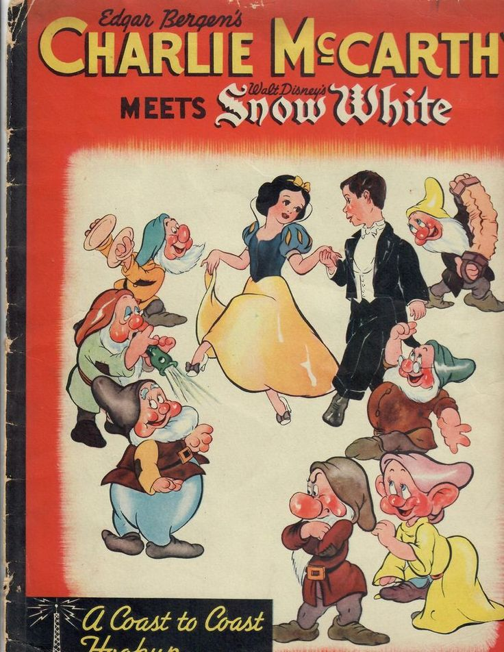 Edgar Bergen's CHARLIE McCARTHY MEETS Walt Disney's SNOW WHITE  BOOK * RARE 1938