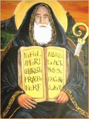 ¡Oh glorioso padre san Benito!  fervoroso y ejemplar abad,    mi gran protector bondadoso  y de cuantos van a ti a suplicar,  aleja de...