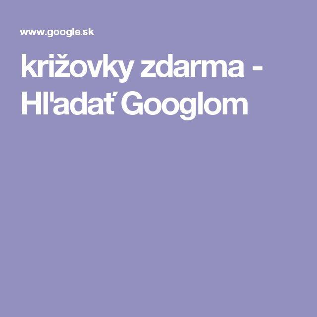 križovky zdarma - Hľadať Googlom