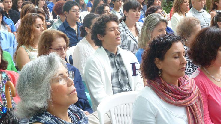 Meditation demonstration at Monterrey Tec in Mexico 2013