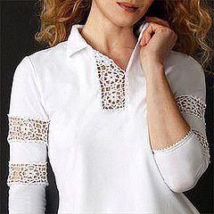 TRICO e crochet-madonna-mine: camicie e prendisole per le donne con le applicazioni Crochet