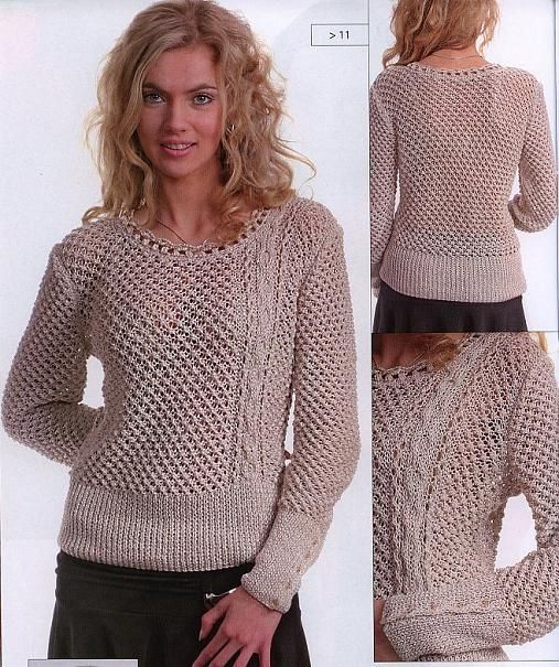 Free Crochet Pattern For Ladies Top : 55 best images about Knitting Womens Tops on Pinterest ...