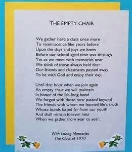 PASSED CLASSMATES - I like the 'empty chair' theme.