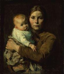 Mother and Child, c. 1906 Julius Gari Melchers
