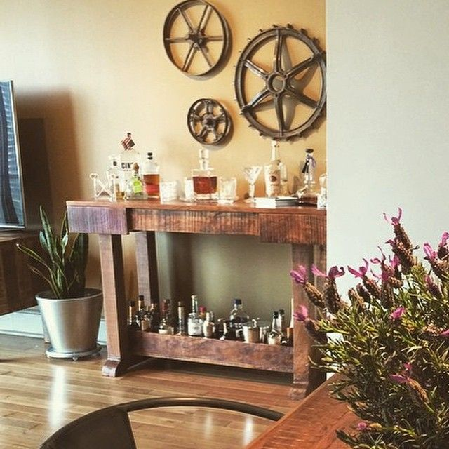 Good Look How This Customer Took Nadeauu0027s Mango Console And Turned It Into A Bar!