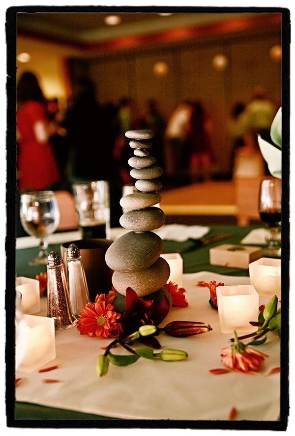 rock centerpieces factoids for the work world pinterest