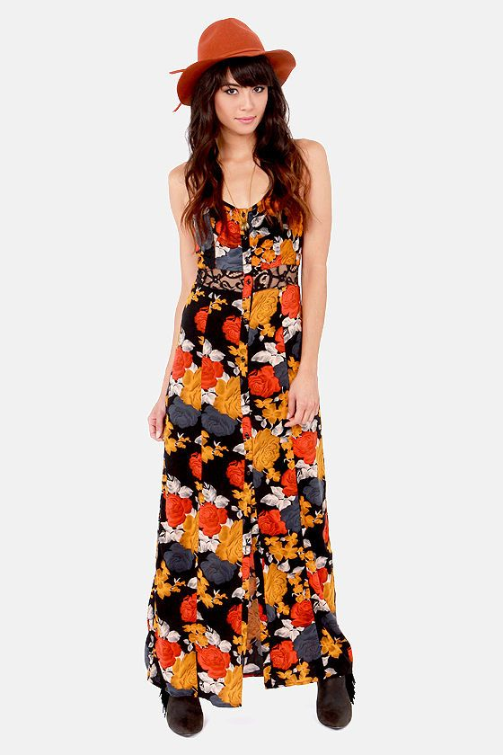 78 Best images about Volcom on Pinterest - Floral print maxi dress ...