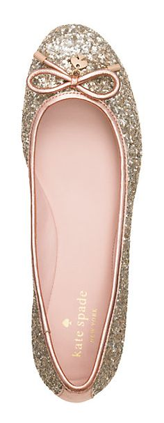 Glitter Flats? Yes, please! #katespade