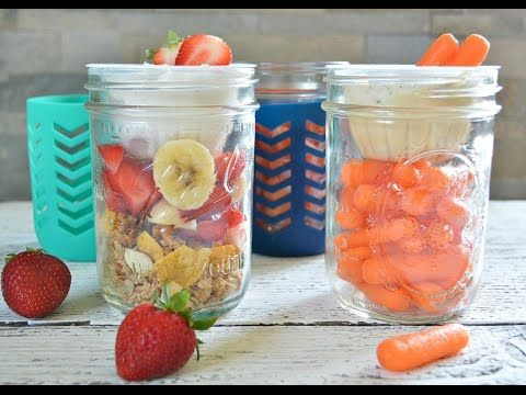 """""""Stack-n-Snack"""" Mason Jar + Dole Fruit cup snack ideas for back-to-school and beyond! - YouTube"""