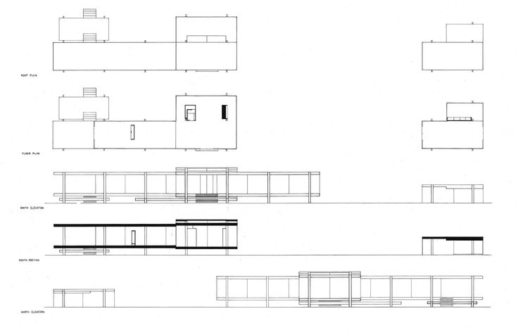 Farnsworth House General Plan Mies Inspiration