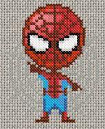 Grille de point de croix gratuite - Spiderman
