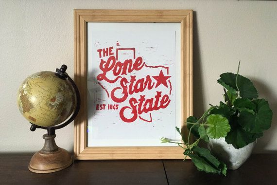 Lone Star State prints https://www.etsy.com/listing/266124604/the-lone-star-sate-block-print?ref=shop_home_active_1