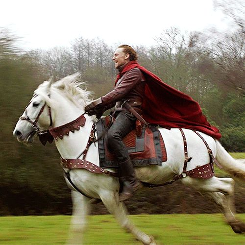 """""""Think, when we talk of horses, that you see them. Printing their proud hoofs i' th' receiving earth,. For 'tis your thoughts that now must deck our kings,. Carry them here and there, jumping o'er times,."""" (— #Henry V, Act 1, Prologue) #ShakespeareSunday #TomHiddleston #TheHollowCrown"""