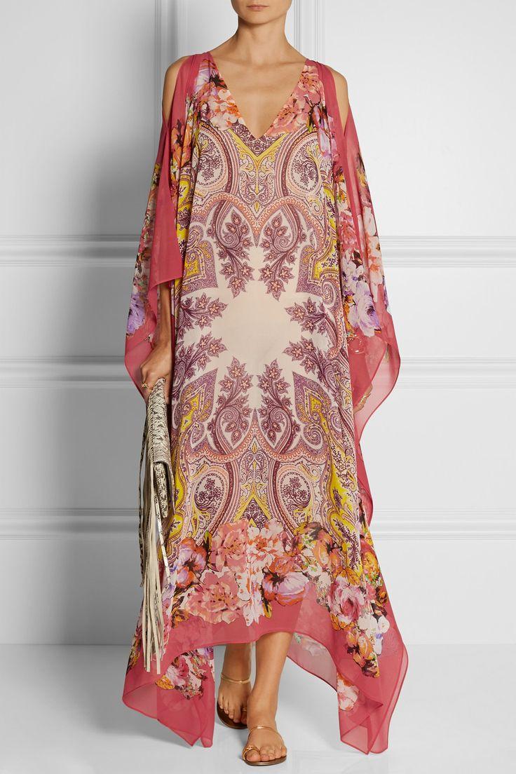 Etro|Printed silk-chiffon maxi dress |NET-A-PORTER.COM