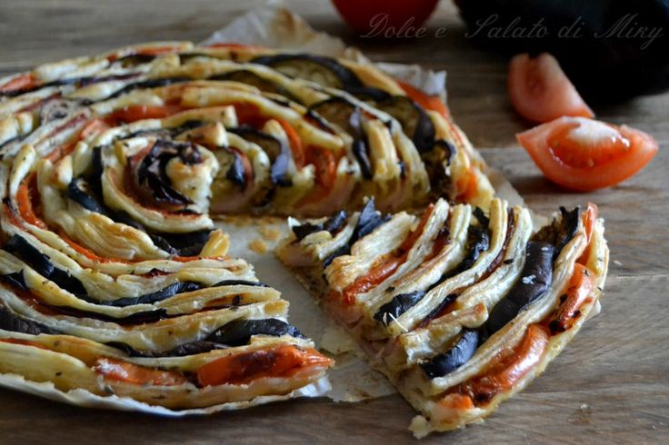 torta recept špirála baklažánu a paradajok |  Dolce e šalátov Miky