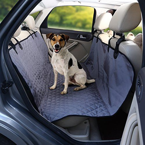 isYoung Portable Dog Car Seat Cover with Non - skid Design - Odorless, Waterproof Hammock - Harmless to Dog Seat Cover for Cars (Blackskidd