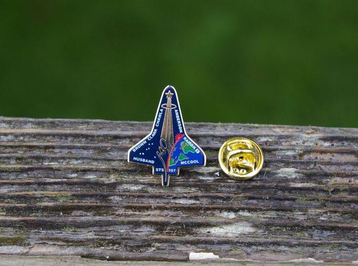 STS-107 Space Shuttle Brown Clark Chawla Anderson Ramon Husband McCool Nasa Pin  | eBay