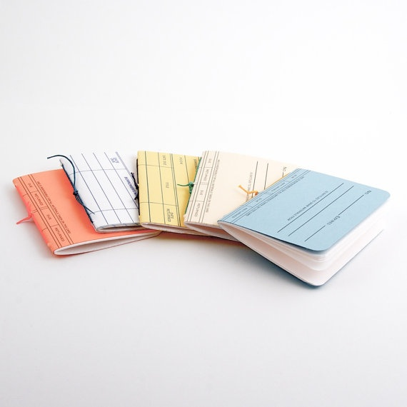 Library Card Mini Books  5 Pack by ToBoldlyFold on Etsy, $10.00
