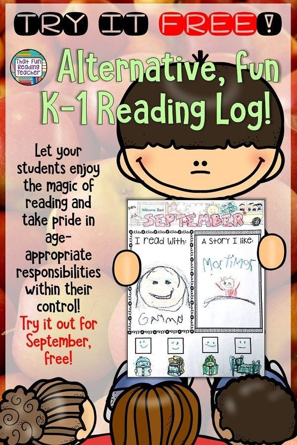 Looking for an alternative Reading Log for your Kindergarten, first ...